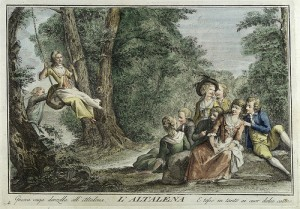 Escena juegos, Italia s. XVIII