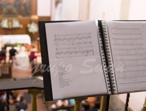 Música para la entrada del novio en una boda religiosa.